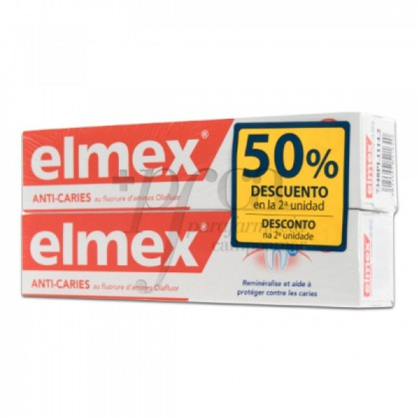 ELMEX ANTICARIES DENTÍFRICO FLUOR 2X 75ML PROMO