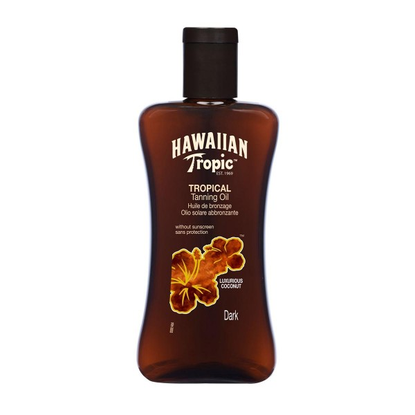 Hawaiian tropic tropical tanning oil dark 200ml