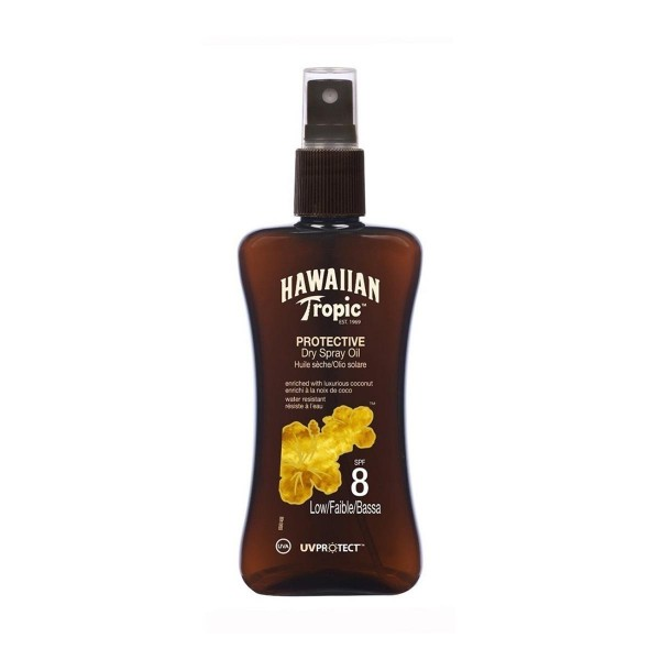 Hawaiian tropic protective dry spray oil spf8 low 200ml vaporizador