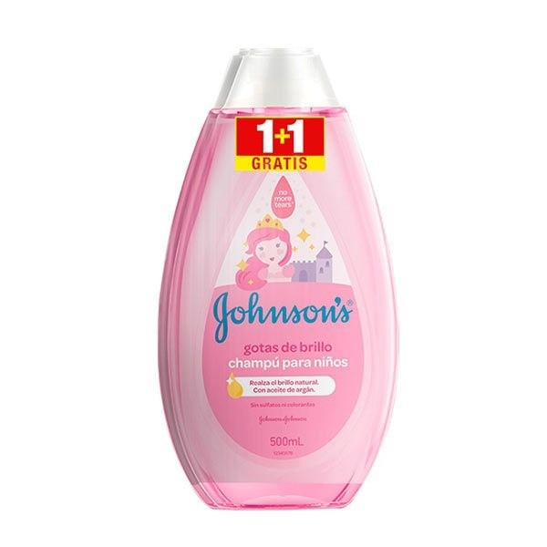 Johnson's Baby Champú Gotas de Brillo 500 ml + 500 ml GRATIS