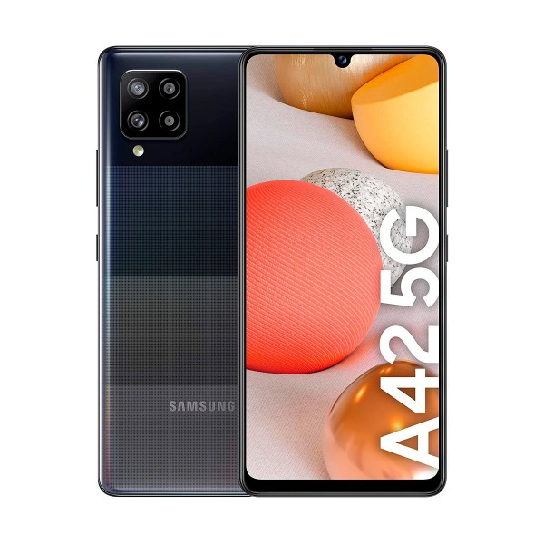 Samsung galaxy a42 negro móvil 5g dual sim 6.6'' hd+ octacore 128gb 4gb ram quadcam 48mp selfies 20mp